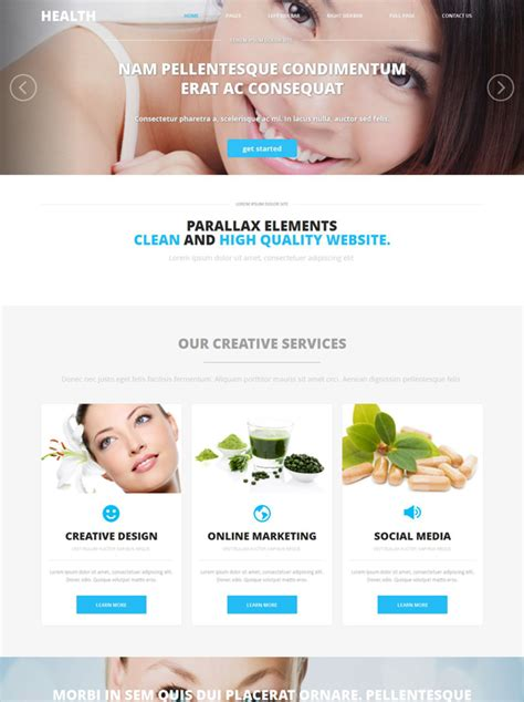 Skin Cosmetic Website Template Health Website Templates Dreamtemplate Cosmetic Website Templates