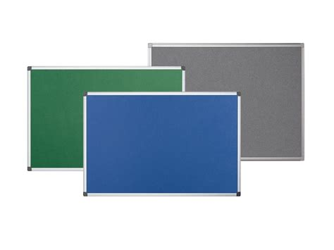 the felt notice board by pergamy can be used with velcro