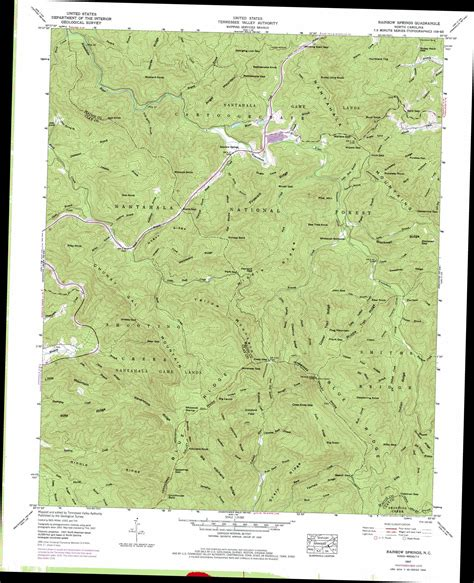topographic map of carolina rainbow springs topographic map nc usgs topo 35083a5