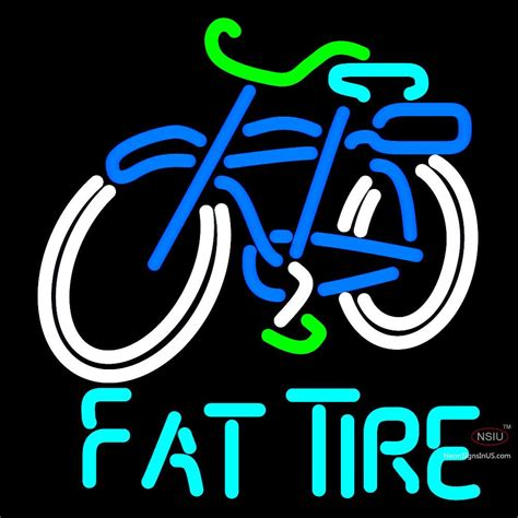 custom fat tire amber ale schwinn style bicycle neon sign neonsigns usa