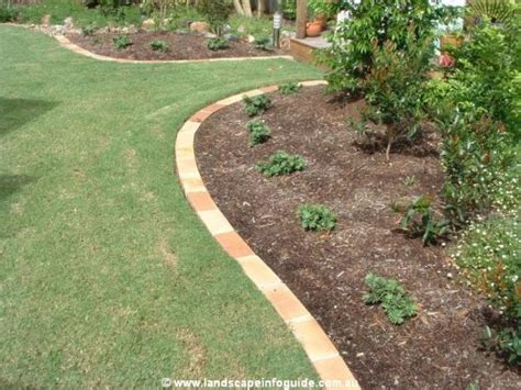 Brick Garden Edging Ideas Paved Edge Lawn Edging Brick Garden Edging