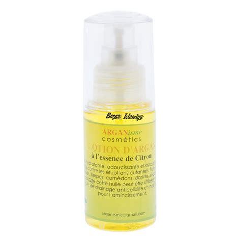 Argan Lotion 60ml lotion d argan 224 l essence de citron achat vertus