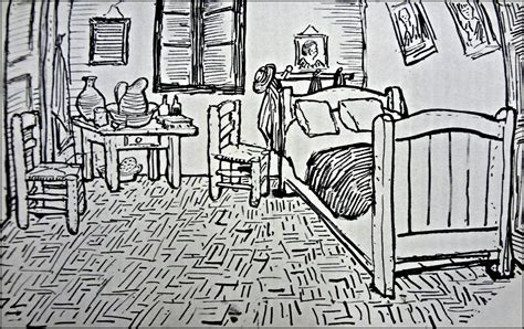 bedroom drawings vincent s bedroom the drawing and the painting burgessart