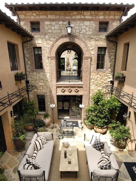italian villa style homes courtyard italian villa style home outdoor living