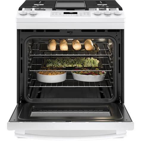 Oven Gas Convection jgs760delwwge 30 quot 5 6 cu ft slide in self steam clean