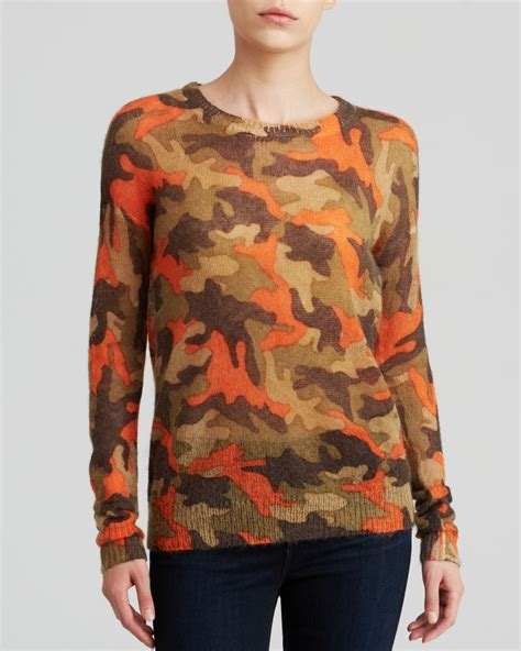 Sweater Camo 7 michael michael kors camouflage print sweater in green lyst