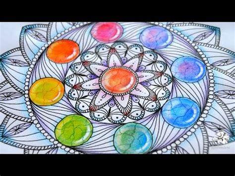 mandala pattern youtube how to draw mandala with rainbow gems colored pencil