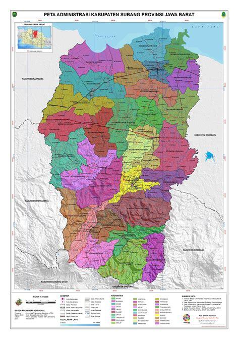 peta kota peta kabupaten subang