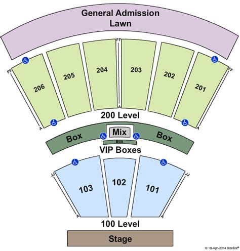 montage mountain seating chart susquehanna breakdown festival toyota pavilion at