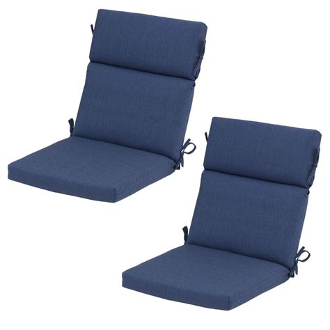 Blue Dining Chair Cushions Hton Bay Sky Blue Rapid Deluxe Outdoor Dining Chair Cushion 2 Pack 7719 02407400 The