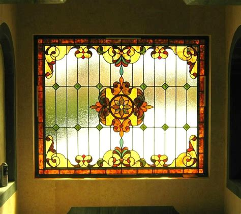 New Homes Interior Photos Traditional Stained Glass Windows Reflective Collections