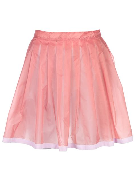 adidas originals x opening ceremony pleated sheer skirt in