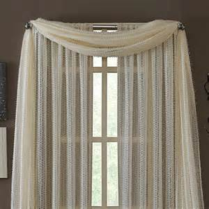 Sheer Valance Scarf Kas 174 Dash Ivory Sheer Scarf Valance Bed Bath Amp Beyond