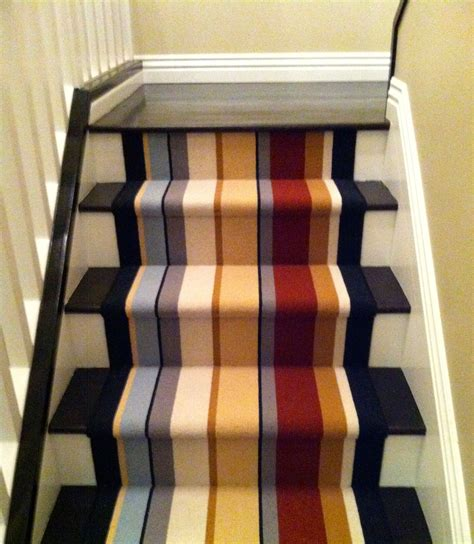 stair runner  newport beach ca missoni wool stripe