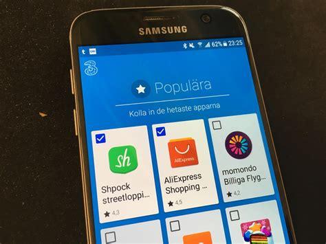 tre mobil tre installerar o 246 nskad appbutik mobil