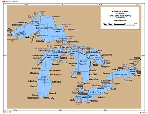canada map great lakes environment and climate change canada weather and