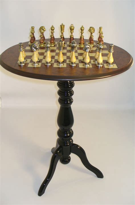 chess table set up chess tables