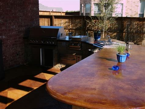 outdoor kitchen countertops ideas stained concrete countertops ideas and basic techniques