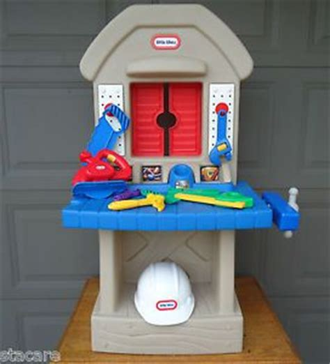 tikes home improvements 2 sided workshop w tool
