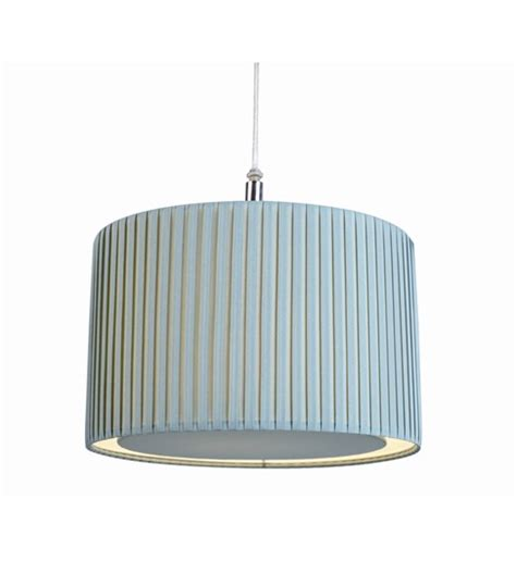 Blue Ceiling Light Shade Pleated Duck Egg Blue Ceiling Pendant Lshade With Diffuser Insert