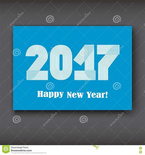 modern new year happy new 2017 year modern design on blue background
