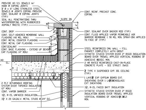 Paver Pedestals Fig 05 Roof And Parapet Details