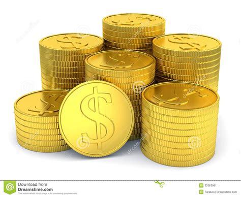 4 Bilder 1 Wort Auto Auf Geld by Pila De Monedas De Oro Con S 237 Mbolo D 243 Lar Aisladas En