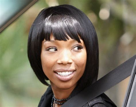 show me a picture of brandys bob hair style in the brandy s new bob is super cute black hairstyles zimbio
