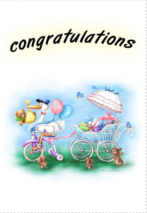 baby congratulations cards templates free printable new baby congratulations greeting card