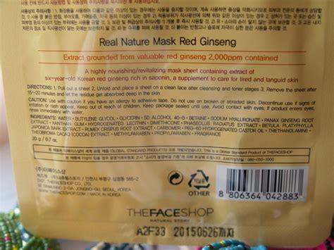Sho Natur Ginseng the shop ginseng real nature mask review