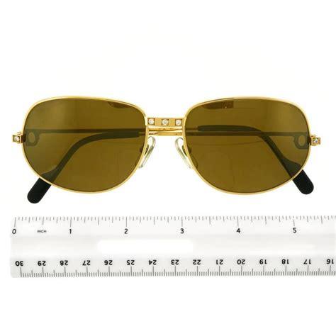 Sungglasses Kacamata Cartier T8200669 Box Sleting cartier santos set 18k gold sunglasses for sale at