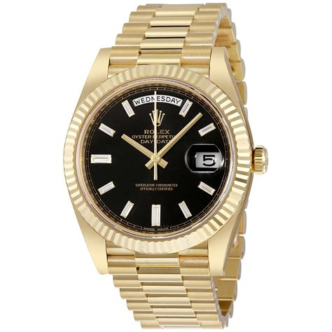 golden rolex rolex oyster perpetual 18k yellow gold men s
