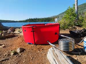 Heated Bathtubs Nomad Collapsible Tub Makes It Easy To Soak On A Warm