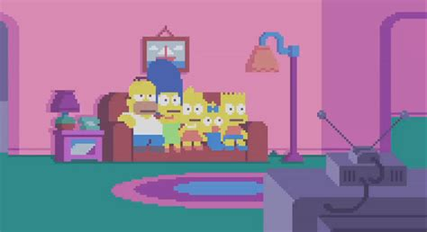 the simpsons couch gag game simpsons couch gag features pixel art by fans l7 world