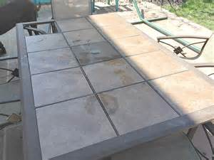 Ceramic Patio Table Wood Tile Topped Diy Patio Table Reinvented