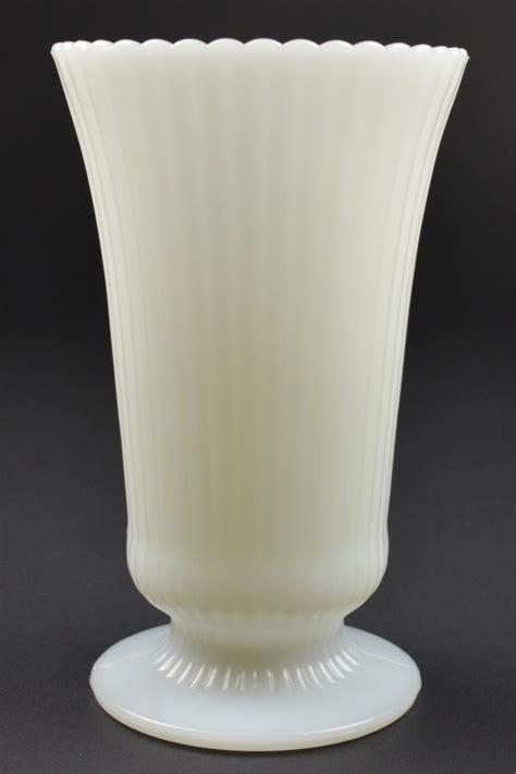 Milk Glass Vases by E O Brody Milk Glass M5000 Vase Vintage Ribbed
