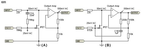 jfet as voltage variable resistor op how to mirror resistor use same variable resistance for op gains