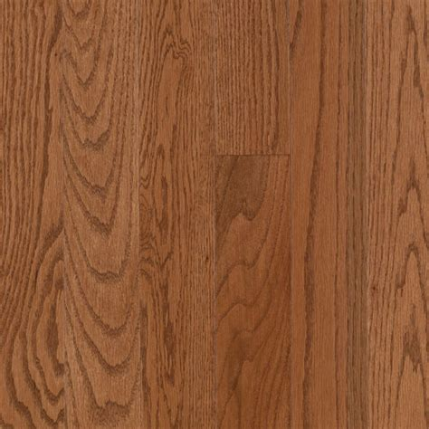 shop allen roth 2 25 in w prefinished oak hardwood flooring gunstock oak at lowes com
