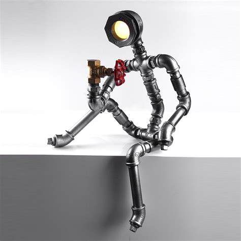 Aliexpress.com : Buy Robot Light Modern Industrial Pipe Light Led Desk Lamp Vintage Steampunk
