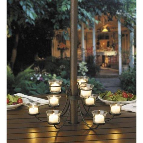 Patio Umbrella Votive Holder Decorate Your Winery Restaurant Or B B With Furnishings