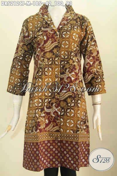 Dress Wanita Bagus pusat pakaian batik wanita sedia dress kerah
