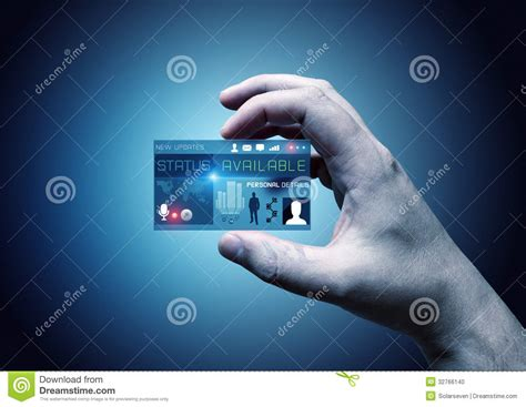card digital digital business card stock photo image of transparent