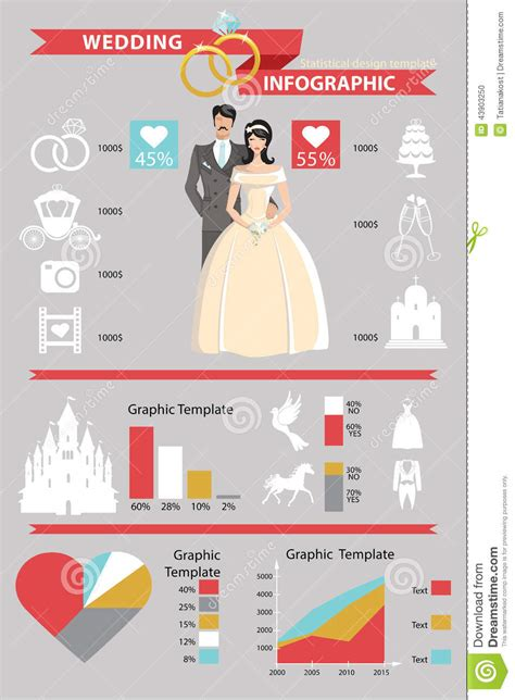 wedding infographic template wedding infographic set retro and stock