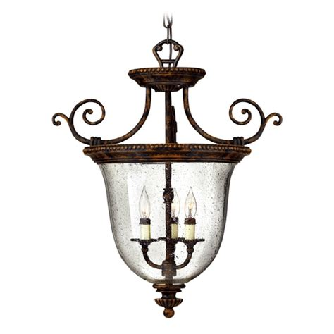 Bronze Foyer Light Hanging Foyer Light With Clear Glass In Forum Bronze