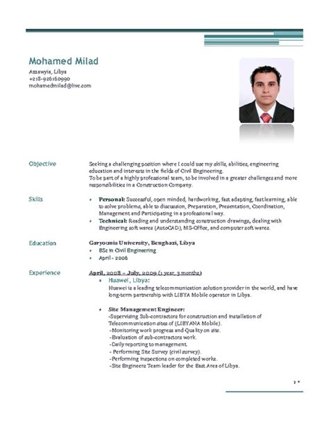 career objective for resume for civil engineer exle resume for civil engineer resume sle civil