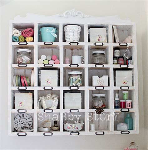 Cubby Organizer Wall Shelf by Wall Cubby Shelf For Craft Supplies From Shabby Story