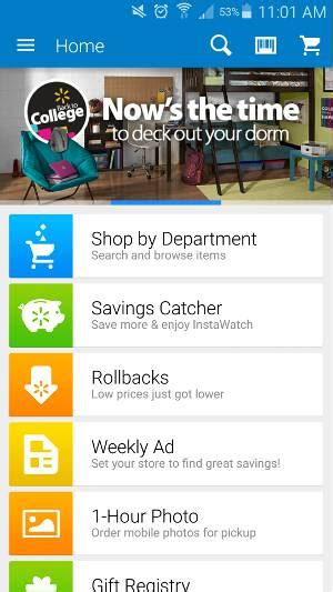 walmart photo app for android shopping from your android made easy