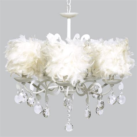 Chandelier Shabby Chic Shabby Chic Chandelier With Feather Shades Jb 2477 795 00 The Painted Cottage Vintage