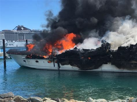 yacht valor yacht called positive energy burns to ashes at yacht