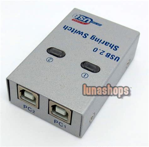 Switch Hub Printer 2 port usb 2 0 auto switch switcher hub box led for pc printer scanner from lunashops 6